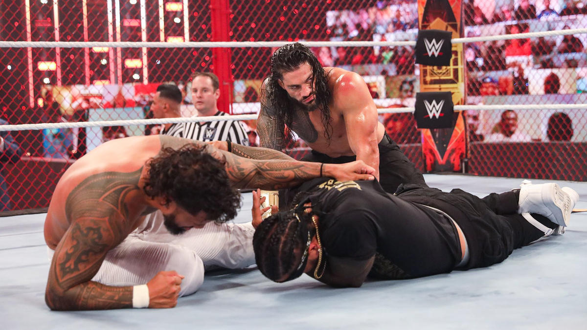 WWE Hell in a Cell Roman Reigns v Jey Uso I Quit Match 10/25/2020 Results