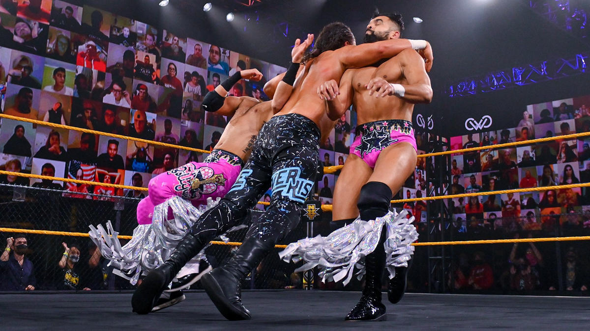 Ever-Rise and Bollywood Boyz Meet in a Tornado Tag on WWE: 205 Live