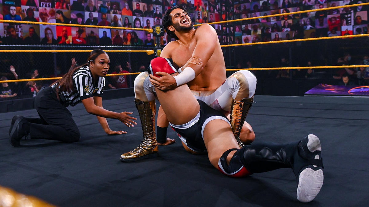 Mansoor dominated his match on 205 Live with Jake Atlas by using multiple submissions.