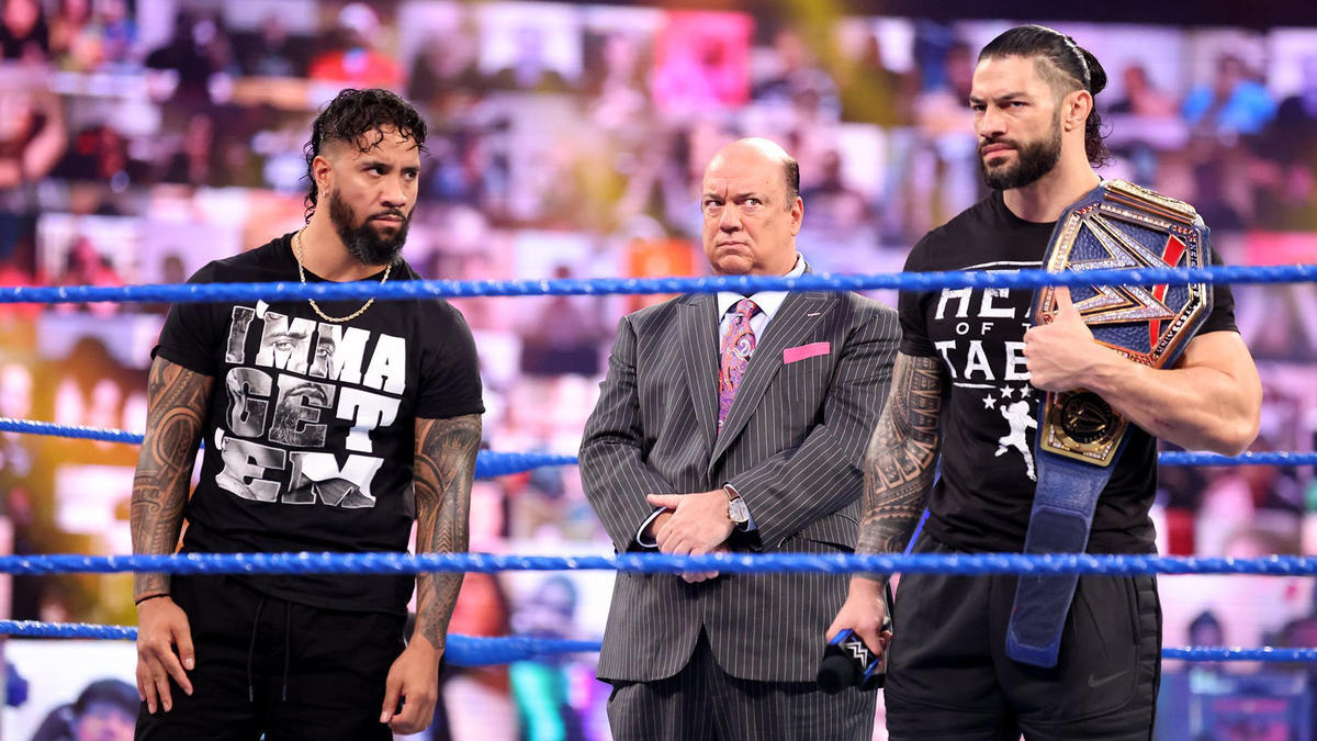 Roman Reigns, Jey Uso and Paul Heyman listened as Kevin Owens vowed to get his payback on WWE SmackDown.