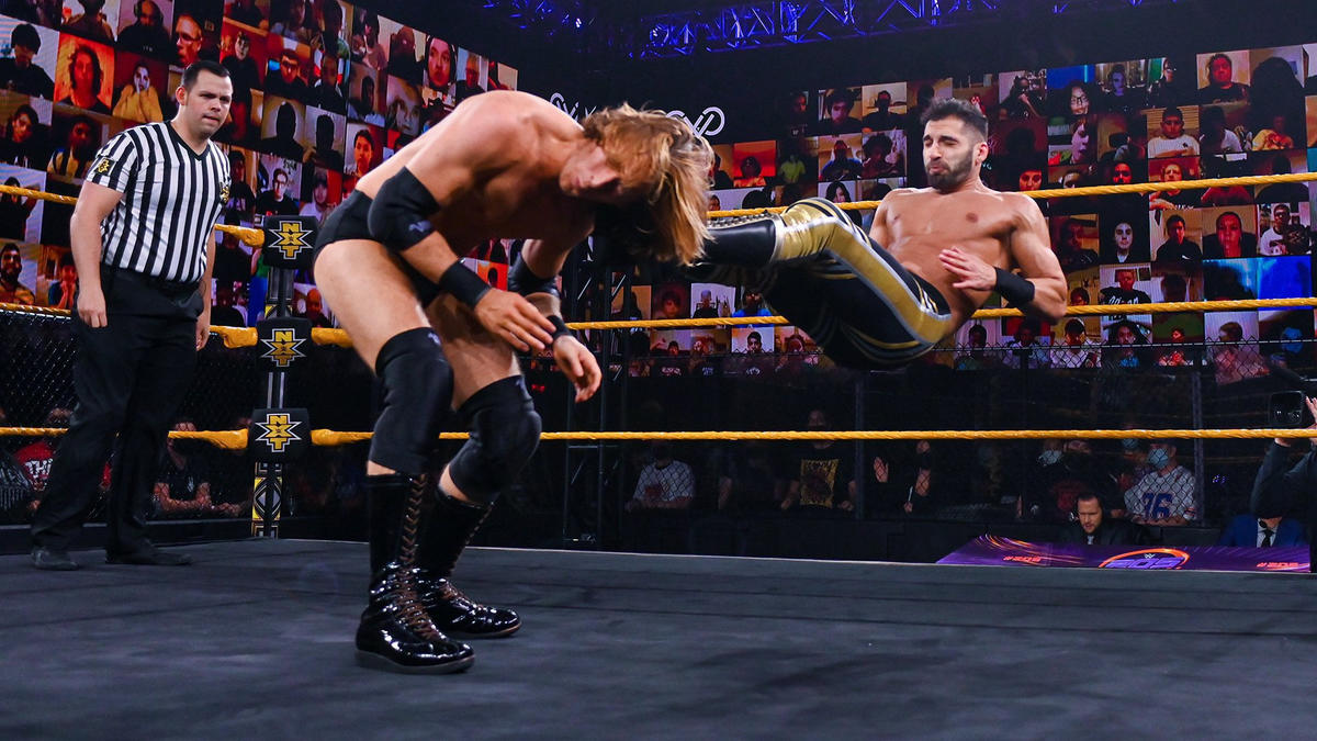 Daivari hit Stallions with a picture perfect dropkick on 205 Live.