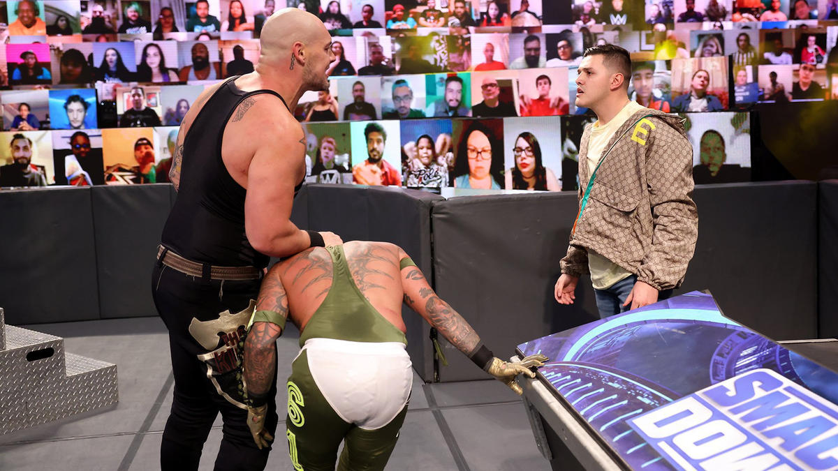 Baron Corbin did what he could to intimidate Dominic Mysterio.