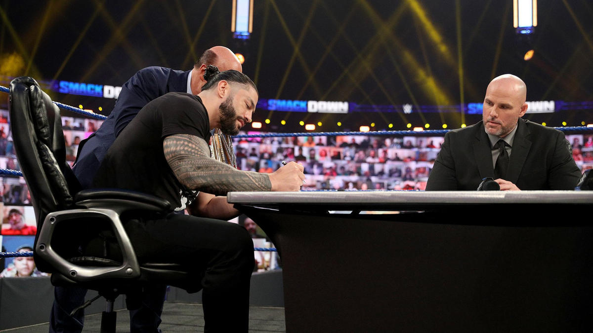 Roman Reigns signed the contract, not knowing what was to come.