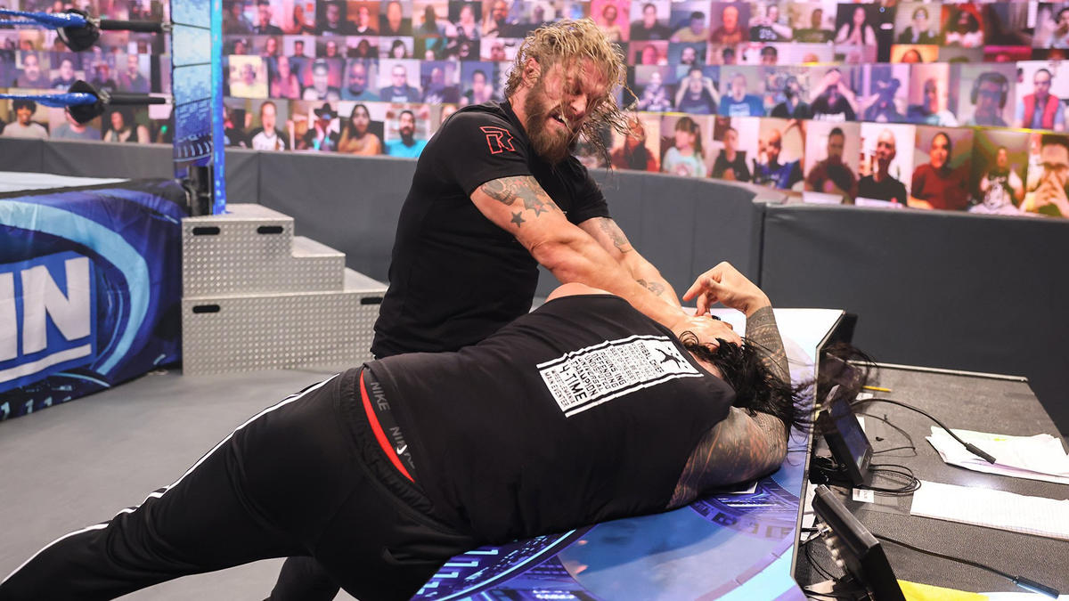 Edge Takes Out Roman Reigns In Emphatic WWE Smackdown Return 75