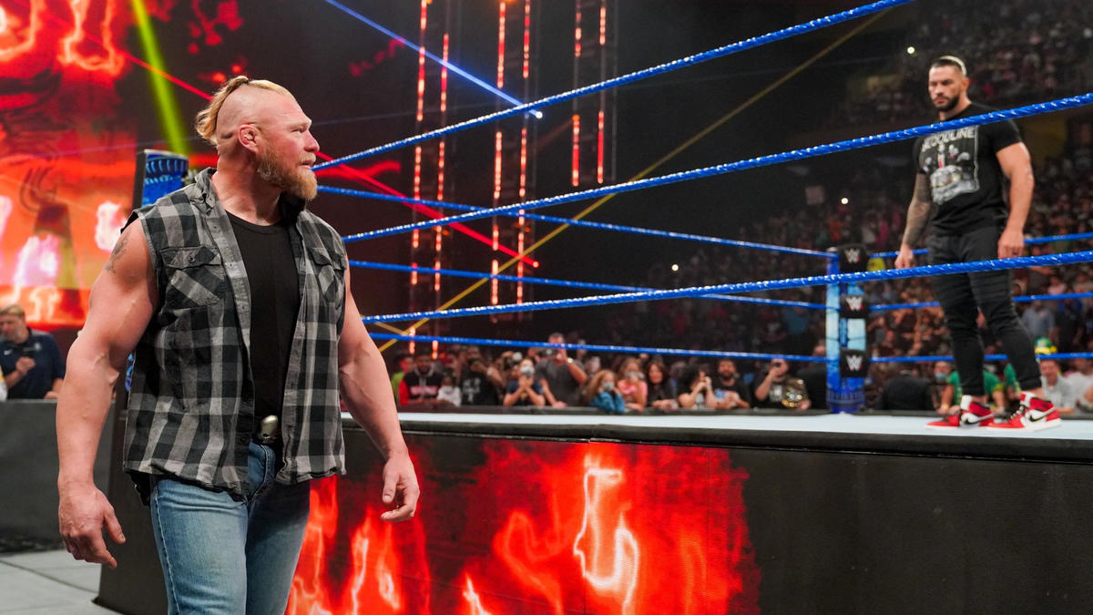 Brock Lesnar Returns On WWE Smackdown; Goes Physical With Roman Reigns 37