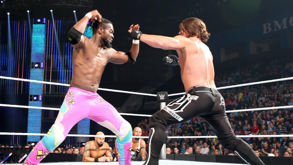 Image result for aj styles vs kofi kingston