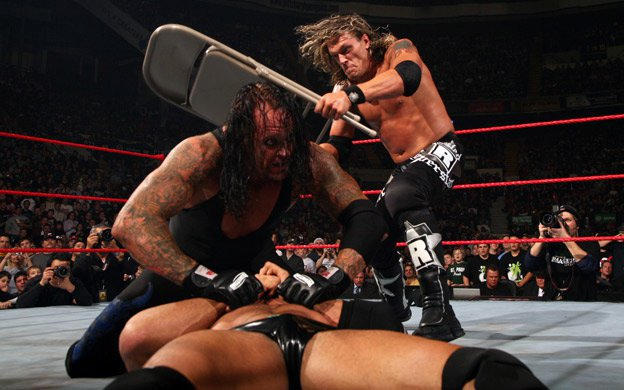 Image result for armageddon 2007 Batista vs Edge vs The Undertaker
