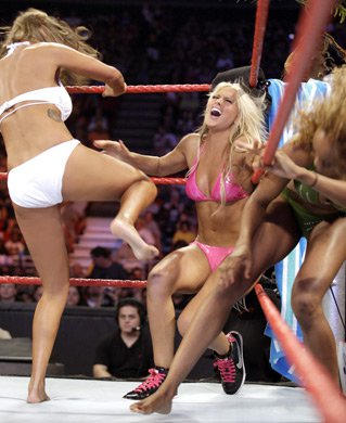 Rosa Mendes Attacks Kelly Kelly In The Corner