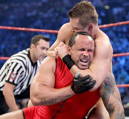 The devious Miz attempts to wear down his opponent's defenses.