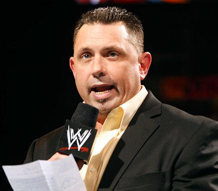 2b173ec2f57e Hoping to avoid Jerry Lawler's wrath, Michael Cole reads a