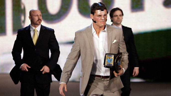 Intercontinental Champion Cody Rhodes emerges with something to say at WWE Hell in a Cell.