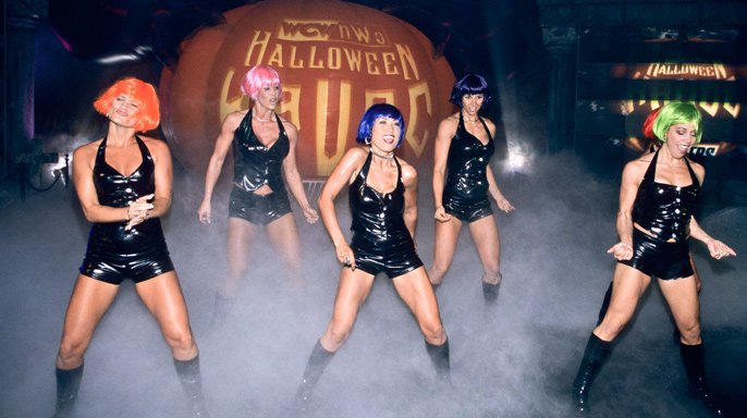 The Nitro Girls electrified the October event in 1998.