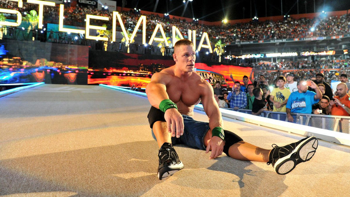 Image result for cena rock wrestlemania 28