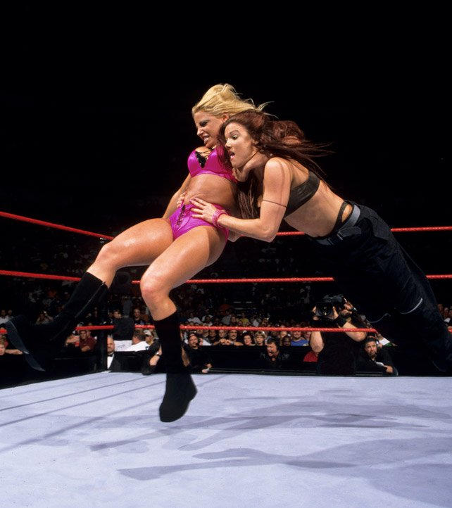 Trish Strarus teamed with Test & Albert against the Hardyz and Lita in 2000.