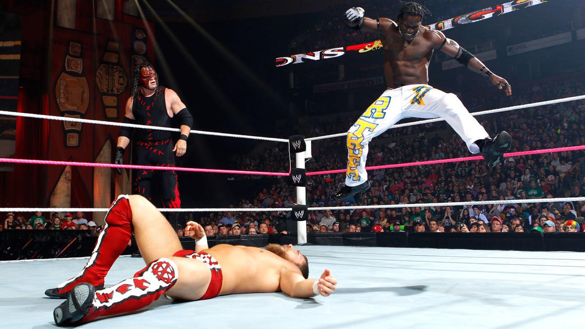 R-Truth uses his explosive, high-flying arsenal on Bryan.