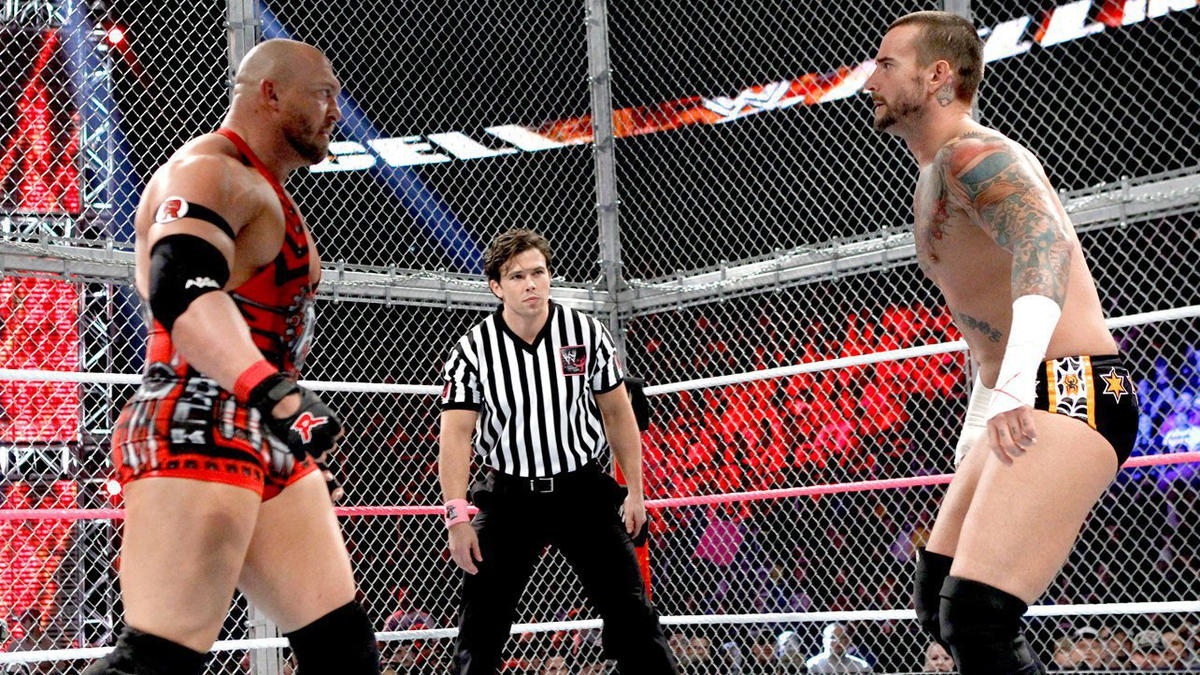 CM Punk comes face to face with his massive challenger, Ryback.