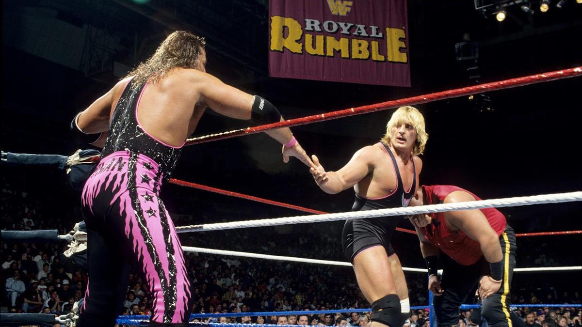 Resultado de imagem para royal rumble hart family 1994