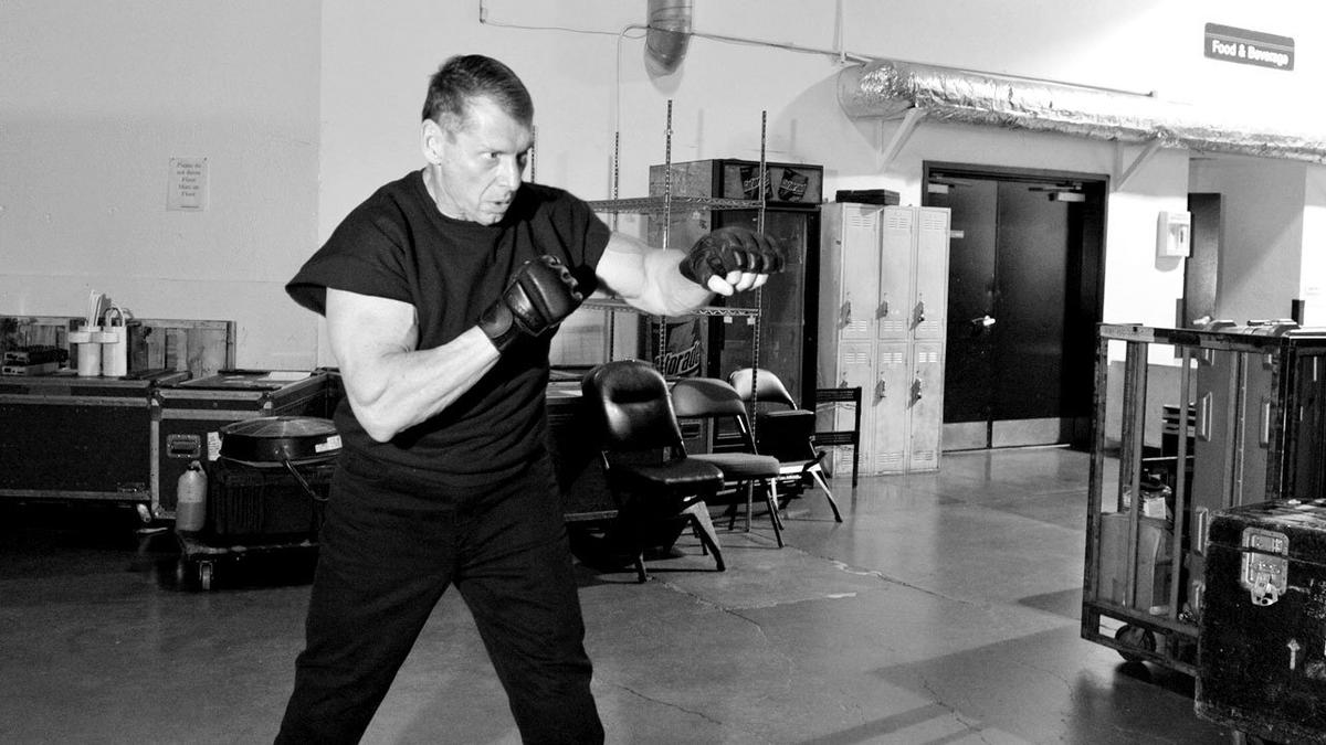 Mr. McMahon tested out his punching power before his grueling battle with WWE Champion CM Punk.