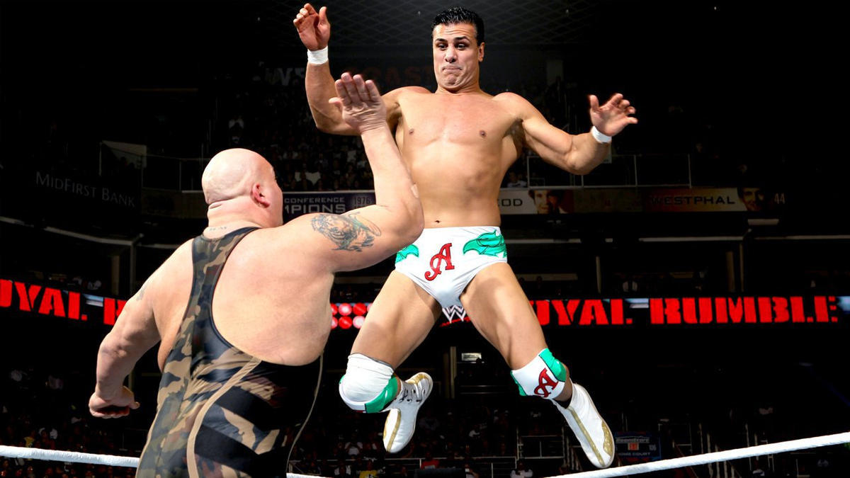 The World's Largest Athlete and the Mexican champion battle in a Last Man Standing Match.