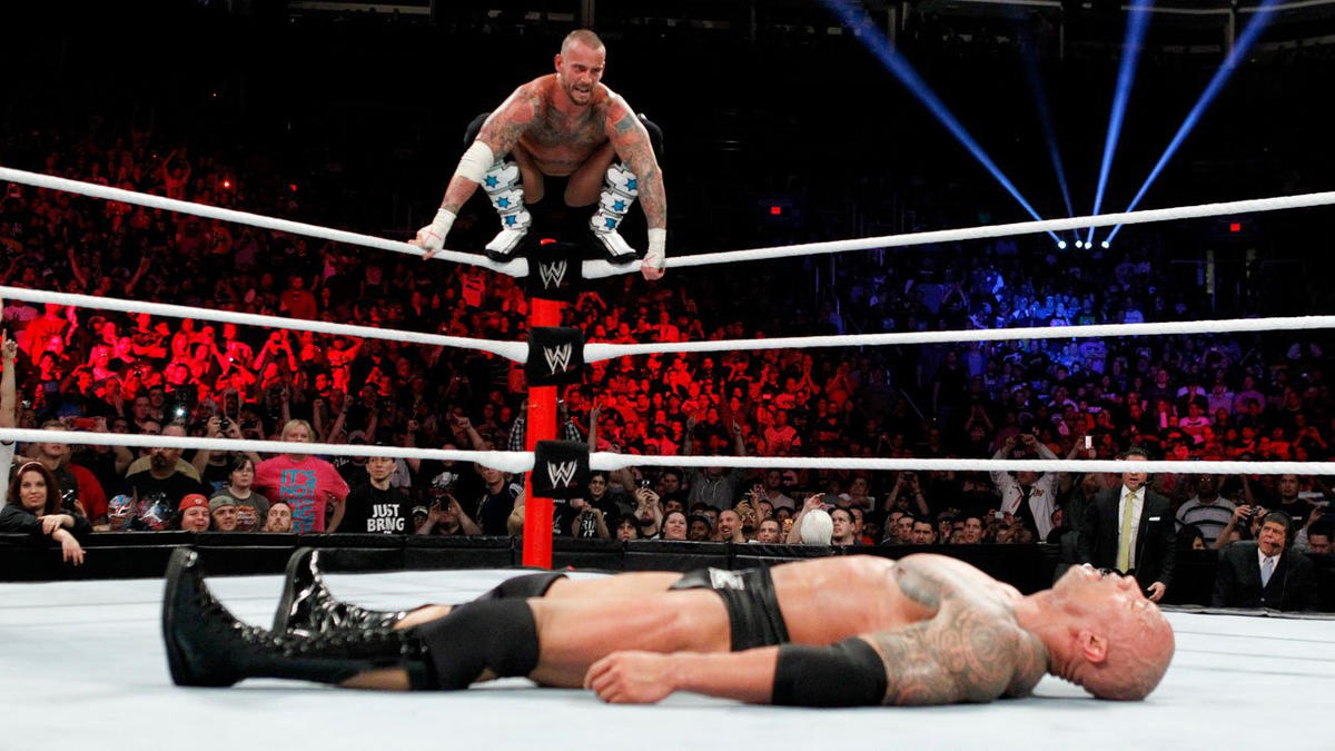 The match restarts and Punk is sure he has the upper hand.