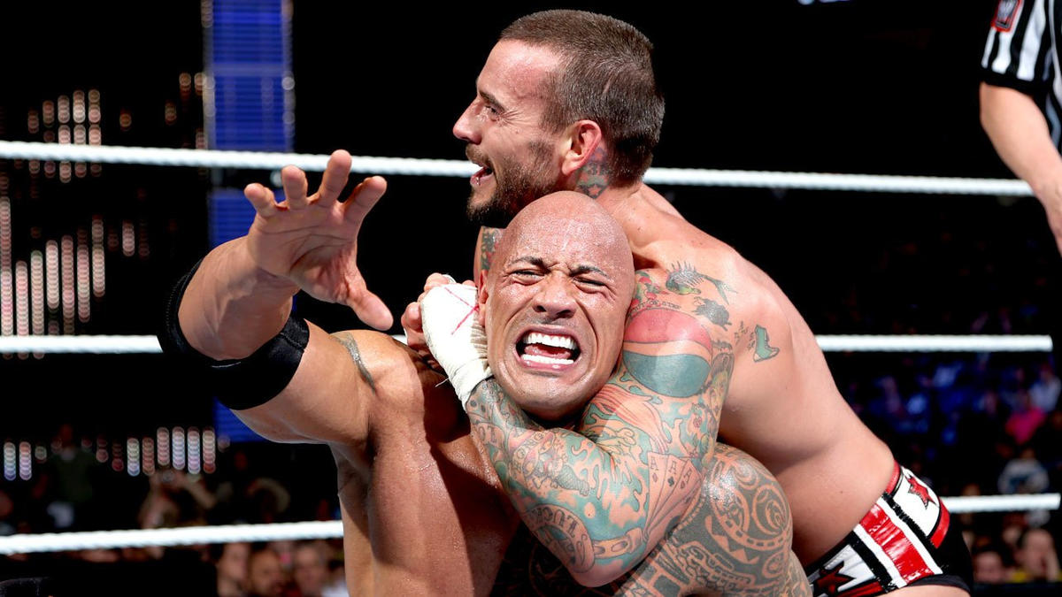 If The Rock is counted out or disqualified, Punk wins the WWE Championship.