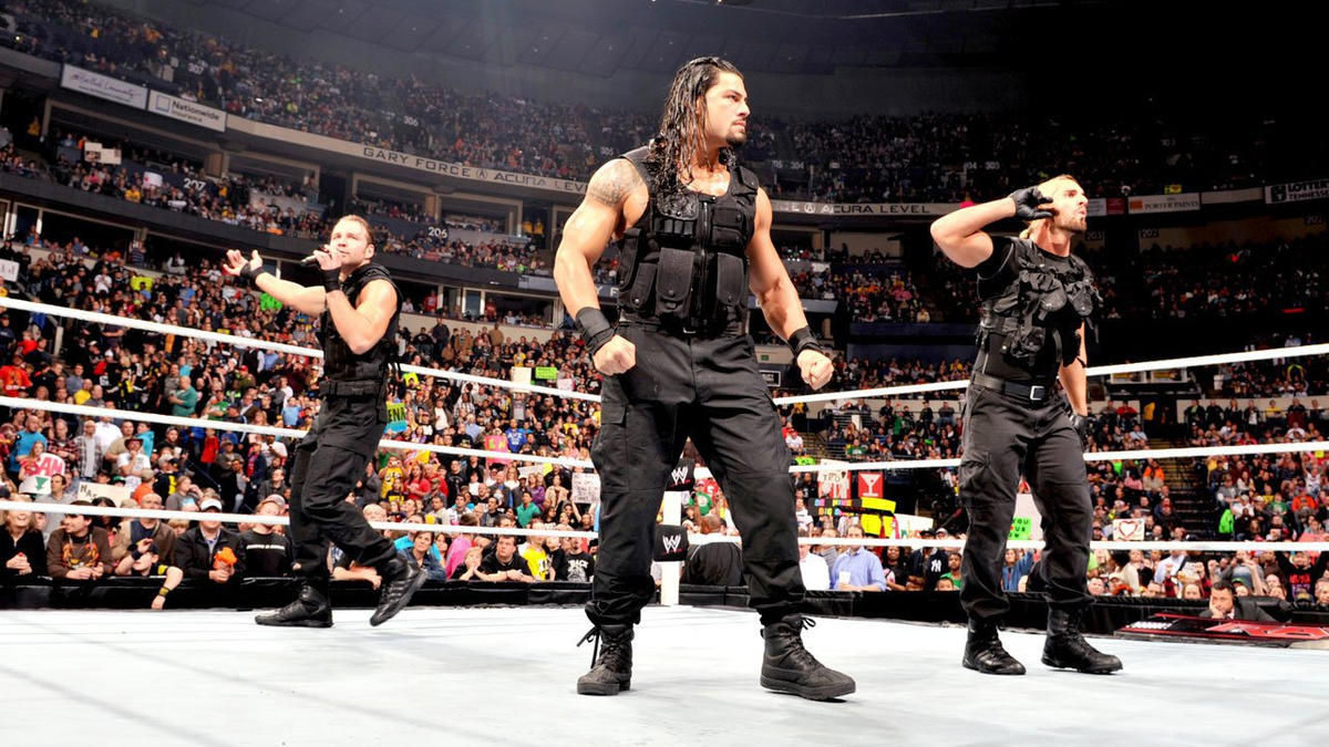 "We are The Shield,"" Dean Ambrose says. ""We stand united in this ring with the sole purpose of shielding WWE from atrocities, atrocities like the ones John Cena commits every day."""