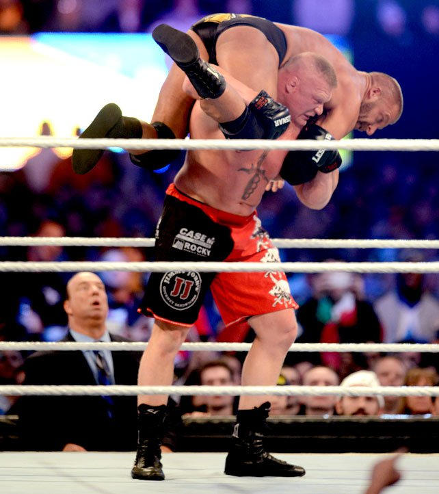 Triple H vs. Brock Lesnar - No Holds Barred Match with Triple H's ...