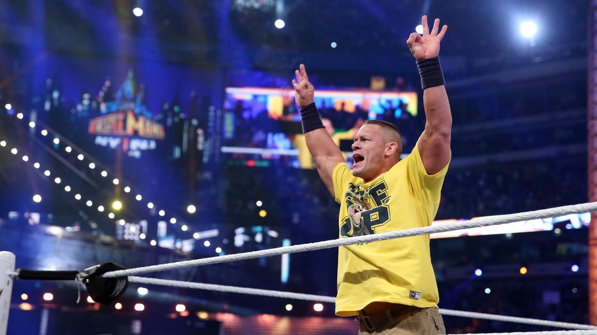 The Rock Vs John Cena Wwe Championship Match Photos Wwe