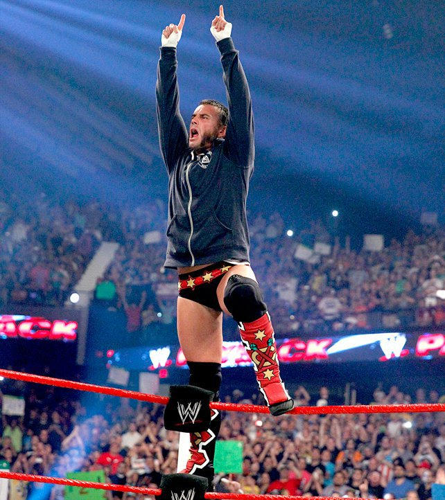 Wwes inspired ring gear photos wwe windy city native cm punk represents his hometown team the chicago blackhawks with his voltagebd Image collections