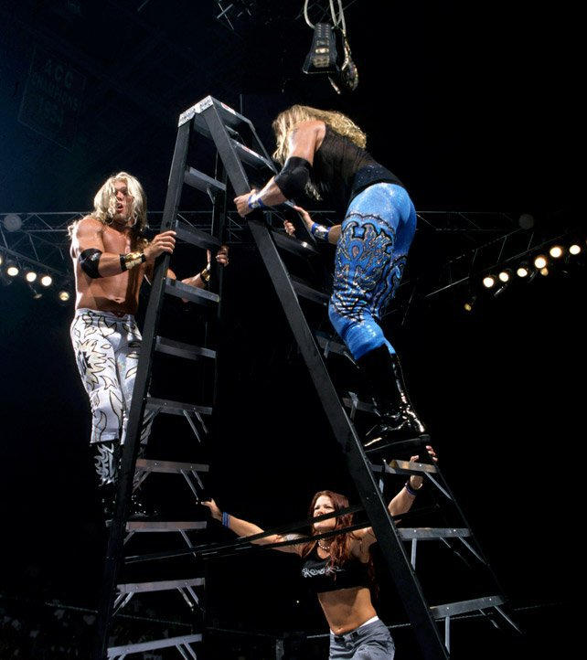 New ground was broken when WWE Tag Team Champions Edge & Christian defended the titles in the first Tables, Ladders & Chairs Match against The Hardy Boyz and The Dudley Boyz.