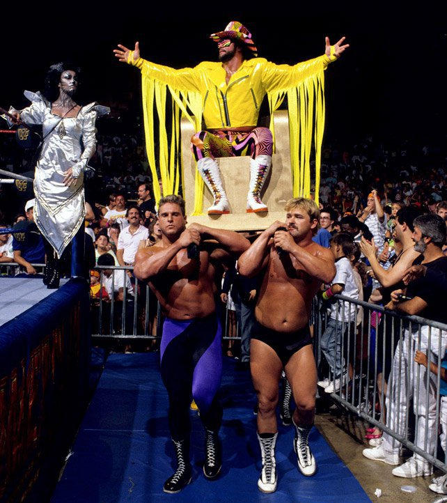 """""""Macho King"""" Randy Savage saw action against """"The American Dream"""" Dusty Rhodes."""