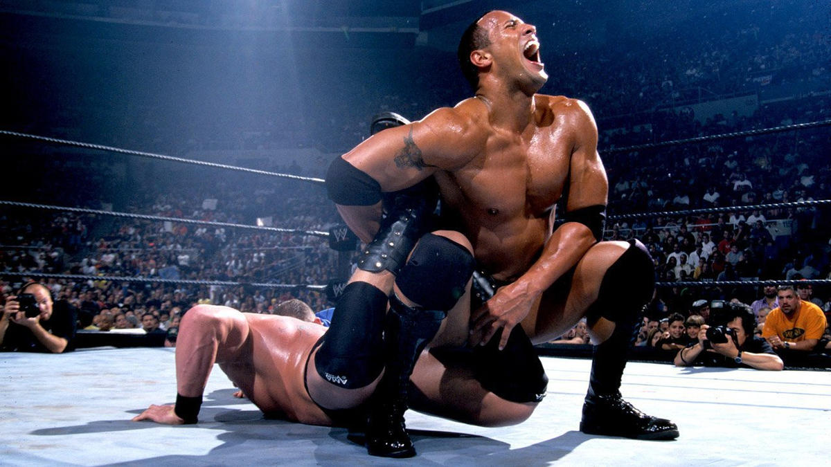 The Rock and Brock Lesnar warred over the WWE Undisputed Championship, with Lesnar coming out on top.