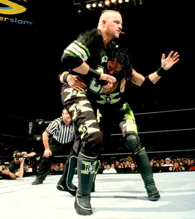 D-Generation X imploded, with Road Dogg facing X-Pac.
