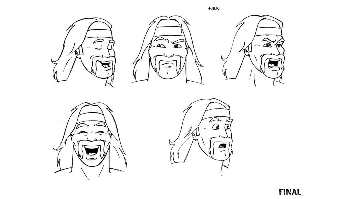 hulk hogan u0027s rock u0027n u0027 wrestling concept sketches photos wwe