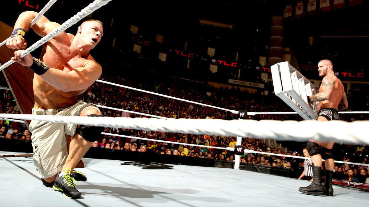 Orton was particularly vicious in this bout, taking pleasure in battering Cena with raw steel.
