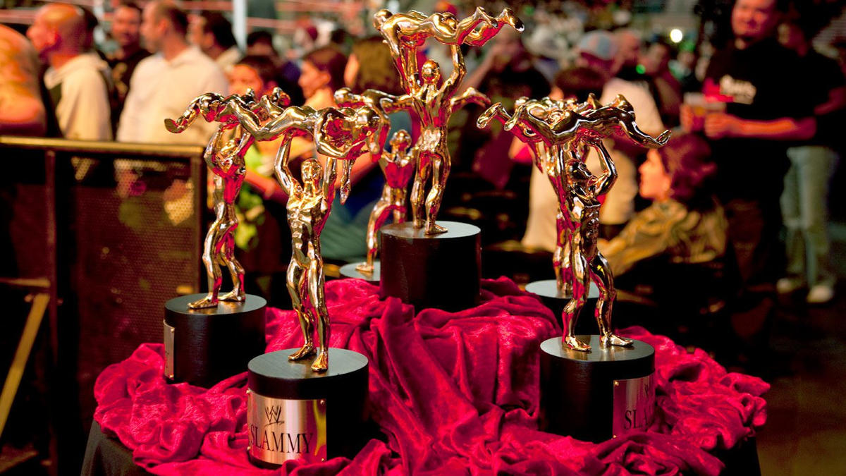"Since 1986, WWE's Slammy Awards has given trophies to winners in categories like ""Best Buns."""