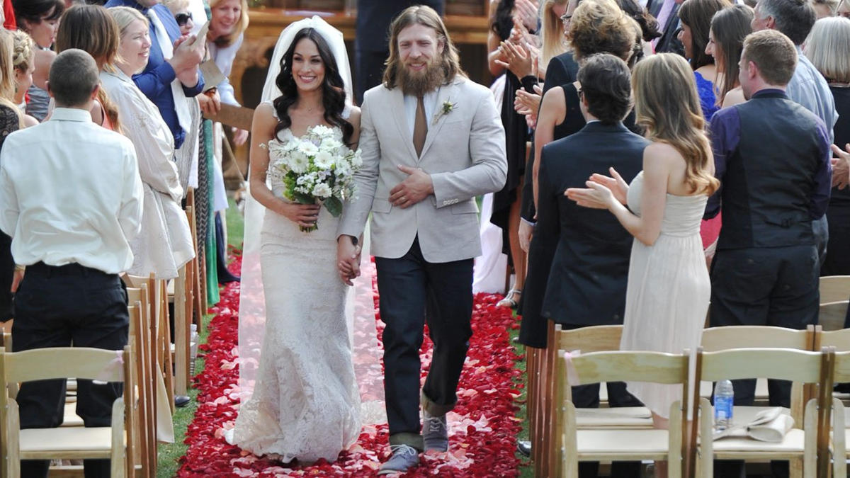 Happily married husband and wife: Daniel Bryan and Brie Bella at their star-studded wedding ceremony