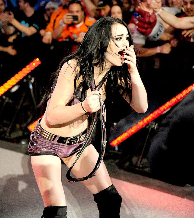AJ LEE AND PAIGE NAKID congratulate, very