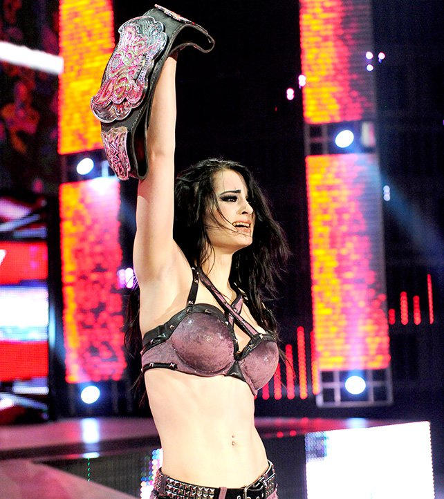 This phrase AJ LEE AND PAIGE NAKID not