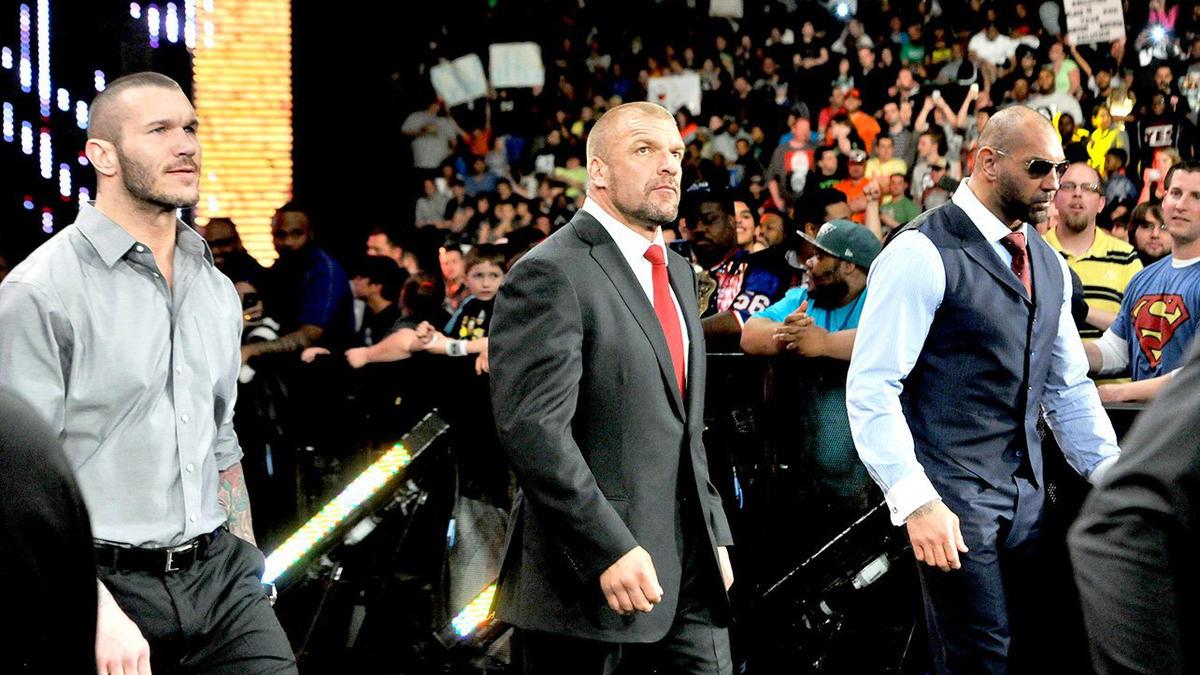 Evolution Return Attack The Shield WWE Randy Orton Triple H Batista Ric Flair