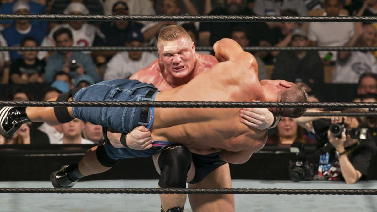 The brutal history of John Cena vs. Brock Lesnar: photos | WWE