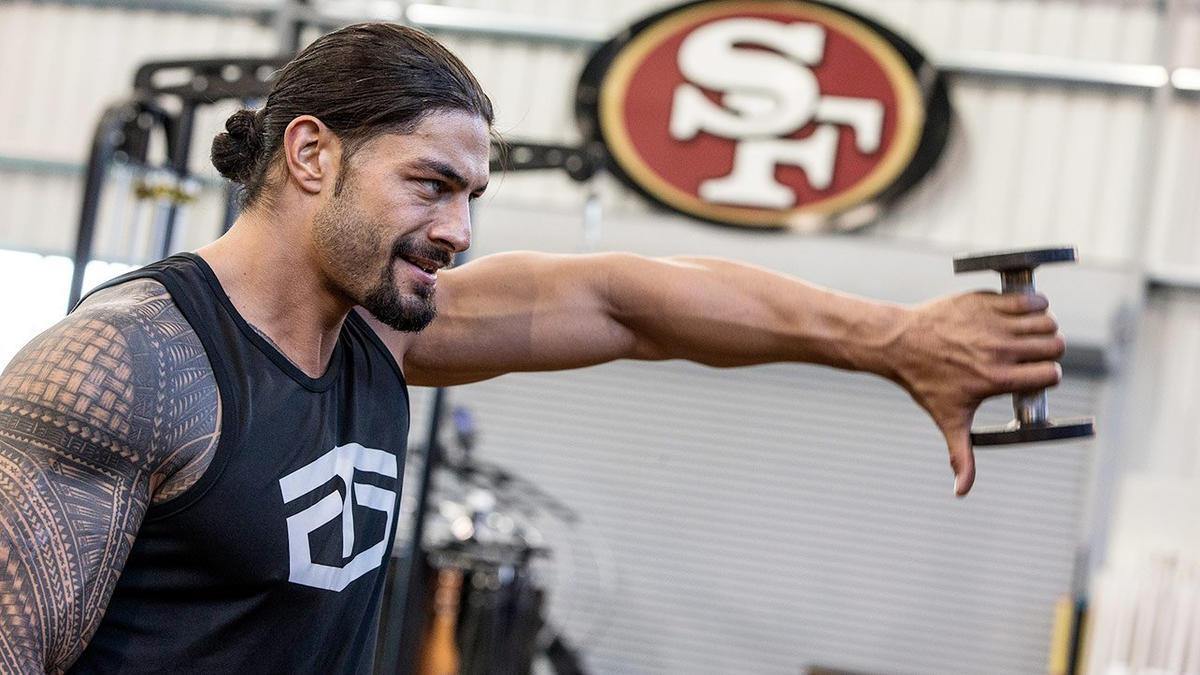 Roman Reigns' WrestleMania workout: photos | WWE