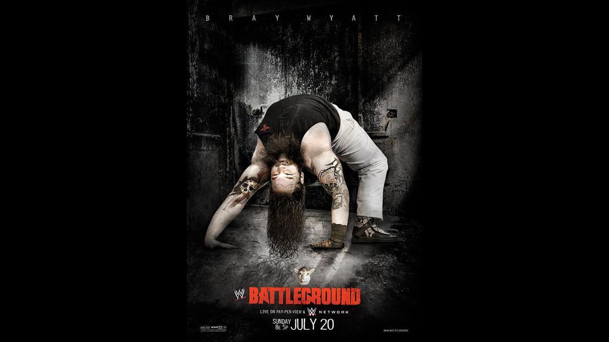 Best poster design 2014 - Wwe Battleground 2014