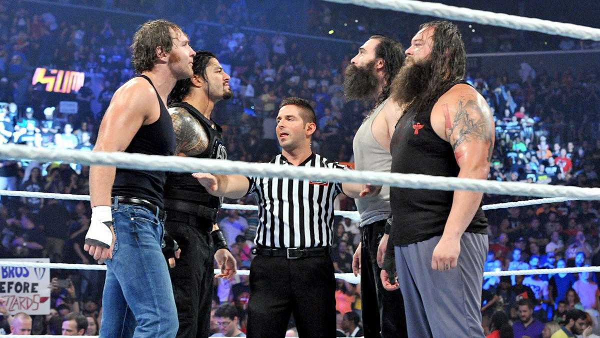 Bray Wyatt & Luke Harper vs. Dean Ambrose & Roman Reigns: photos | WWE