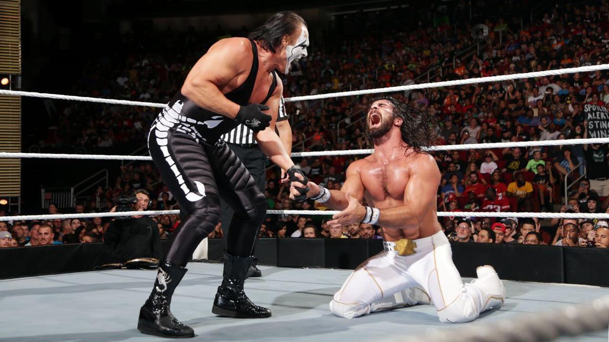 Sting comenta sobre seu combate contra Seth Rollins no Night of Champions