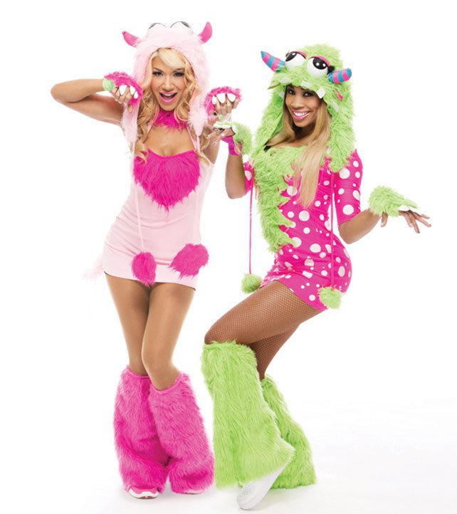 rosa mendes and cameron as monsters - Wwe Halloween Divas