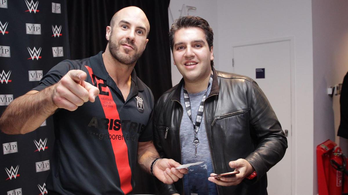 Cesaro vip meet and greet in london wwe previous kristyandbryce Choice Image