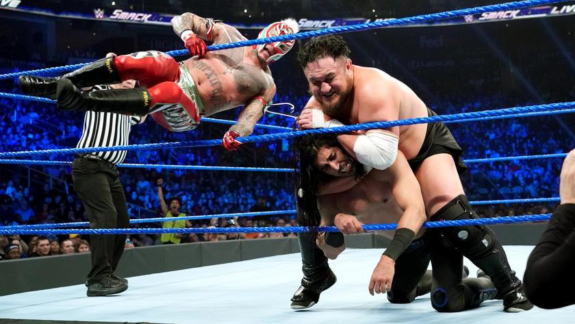 Aj Styles Vs Rey Mysterio Vs Mustafa Ali Vs Randy Orton Vs Samoa
