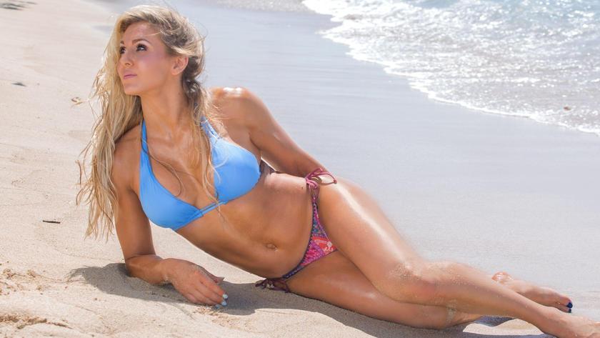 Bikini girl wrestling