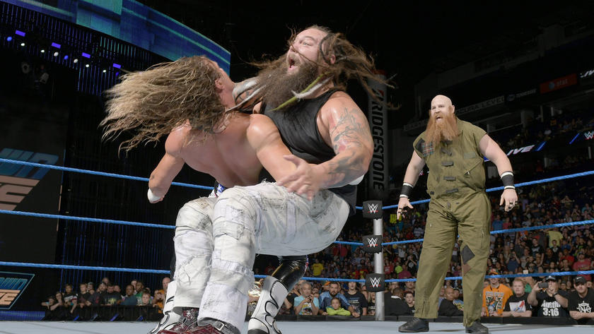 Wyatt hits Ziggler with Sister Abigail.